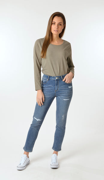 Ellis and Dewey Distressed Denim Jeans