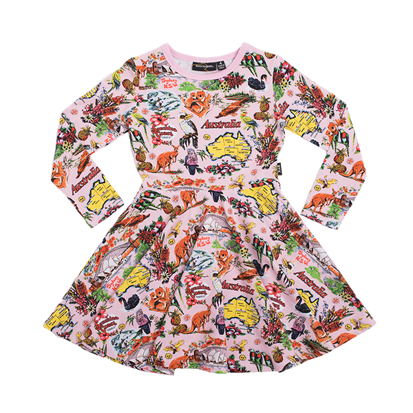 Rock Your Baby Souvenir Waisted Dress