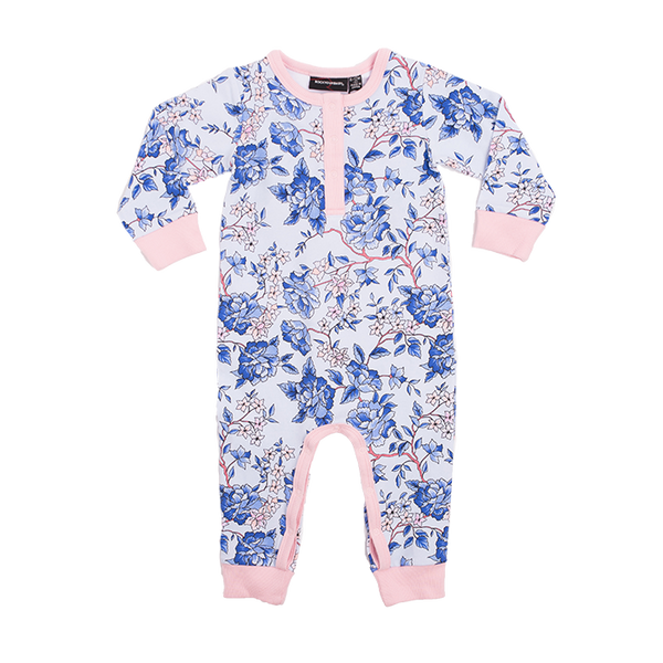 Rock Your Baby Oriental Floral Long Sleeve Playsuit