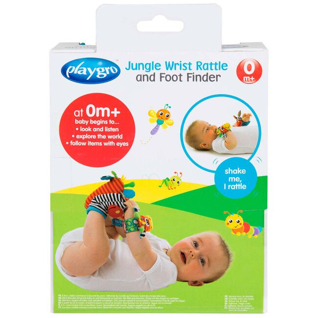 Playgro - jungle Wrist Rattle and Foot Finder Set - Keekabuu