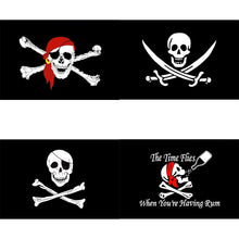 Load image into Gallery viewer, One-eyed Rum Red Scarf Cross Sword Crossbones Skull Pirate Flag Hanging Decor  isfang