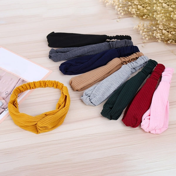 Women Fashion Popular Hair Band Leisure Cross Knot Women Elastic Hair Ornaments Simple Atmospher Cross Knot Hair Band Fashion Hair Accessories Headband