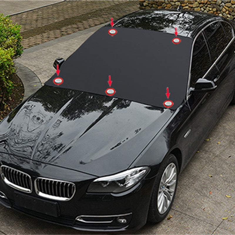 1 pc Car Windshield Cover With 5  Magnets Foldable Waterproof Anti Snow Ice Shield Dust Protector