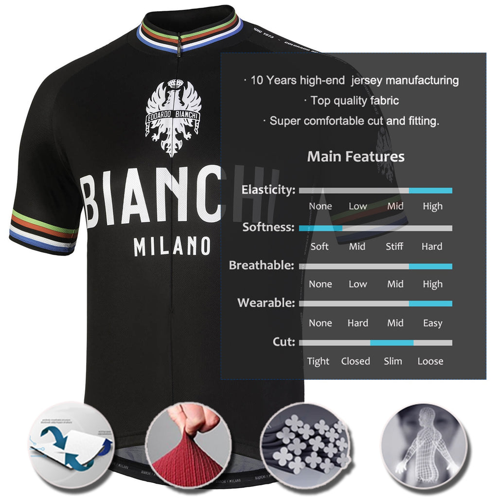 Pro Team BIANCHI Cycling Jersey Mountain Bike Riding Shirt Bicycle Jersey Short Sleeve Bike Riding Shirt Casual Riding Apparel Ropa Ciclismo HEA