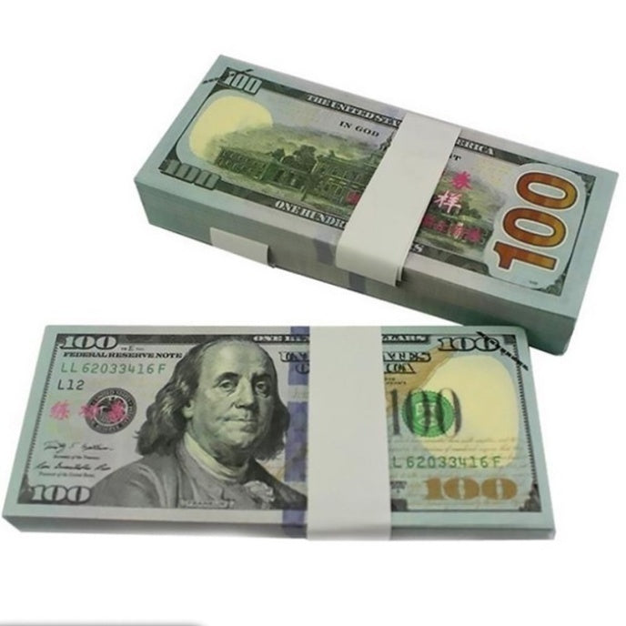 100/50/20PCS  1/2/5/10/20/50/100 Dollars Bills USA Paper Moneys  (Note: They Are not Real Money)