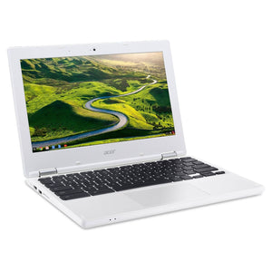 Factory Recertified Acer Laptop with a 11.6' screen, Intel Celeron 1.6 GHz Processor, 4 GB Ram, 16 GB Hard Drive and Chrome OS