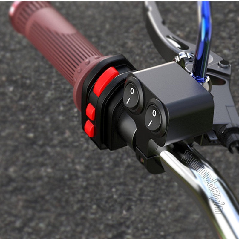 1 pc Motorcycle Handlebar Double Switch Electric Aluminum Alloy Waterproof Dual Button Switches For Headlight Indicator