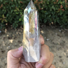 Load image into Gallery viewer, 1Pcs Angel Aura Natural Clear Quartz Crystal Points Single Terminated Wand Polished Reiki Healing Specimen Rock Crystal Quartz