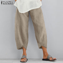 Load image into Gallery viewer, 2019 New ZANZEA Women Harm Solid Color Cotton Pants