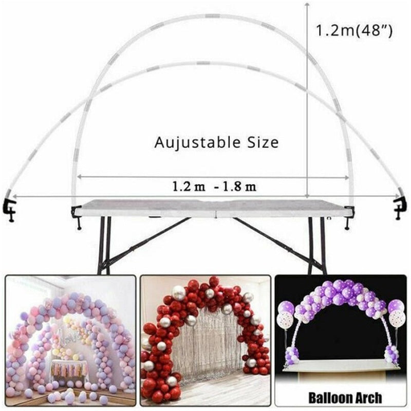 Romantic Large Balloon Arch Set Detachable Balloon Display Balloon Column Stand With Frame Base Pole And Ballons Clips Kit Birthday Wedding Party Decor