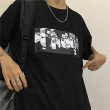 Load image into Gallery viewer, Hot Sale Harajuku Punk Gothic T Shirt Men Streetwear Casual Korean Clothes Femal Tshirt Couple Short Sleeve Anime Naruto Print Tops Tee