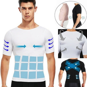 Men's Slimming Body Shaper Vest Compression Tummy Belly Control Waist Slim T-Shirt Tank Tops