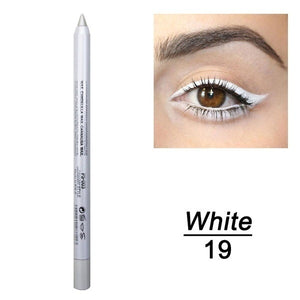 2 Pcs Fashion Makeup Eye Cosmetics Colourful Pigment Long Lasting Waterproof Eyeliner Pencil