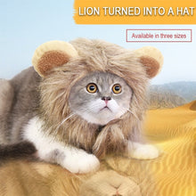 Load image into Gallery viewer, Lion Turned into Halloween Ghost Festival Pet Hat Cat Hat Velcro Adjustable Pet Supplies Autumn and Winter
