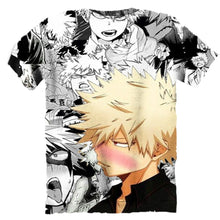 Load image into Gallery viewer, Bakugou Katsuki Short Sleeve Tee Tank Top Round Neck Design Comic Style Hoodies/vest/t-shirt