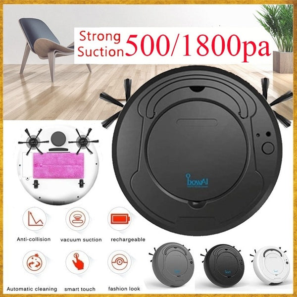 2020 NEW 1800PA Strong Suction Smart Floor Cleaner 3-in-1 Auto Rechargeable Smart Sweeping Robot Dry Wet Sweeping Vacuum Cleaner Strong Suction Robot Cleaner for Home Office