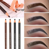 2PCS Eyebrow Tattoo Liner Pencil Tint Microblading Longlasting Waterproof Drawing Eye Makeup Eyebrow Enhancer Peel off Pen