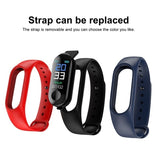 M3 Color Smartband Waterproof Smart Bracelet Heart Rate Blood Pressure Monitor Sport Pedometer Sedentary Reminder Fitness Tracker Smart Wristband for IOS Android Phone