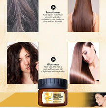 Load image into Gallery viewer, Newest Hair Mask Magical Treatment Mask 5 Seconds Repairs Damage Restore Soft  Hair Treatment Mask Hair Conditioner Hair Moisturizing Essential Oil Dry Damaged Keratin Repair Nourishing Hair Essence Care Smoothing Maintenance 30ML/60ML