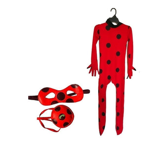 Kids Adult LadyBug Cat Noir Children Ladybug Jumpsuit Party Halloween Cos Girls Boys Cosplay Costumes
