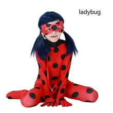 Load image into Gallery viewer, Kids Adult LadyBug Cat Noir Children Ladybug Jumpsuit Party Halloween Cos Girls Boys Cosplay Costumes
