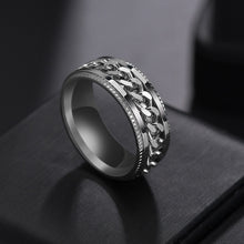 Load image into Gallery viewer, Punk 8mm Spinner Chain Men Rotatable Ring Stainless Steel Party Gift