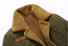 Load image into Gallery viewer, Plus Size Winter Bomber Air Force Pilot Warm Male Fur Collar Army Tactical Jacket Mens Jacket