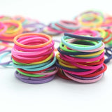 New 111PCS/Lot Girls Candy Colors Nylon 3CM Rubber Bands Children Safe Elastic Hair Bands Ponytail Holder Kids Hair Accessories