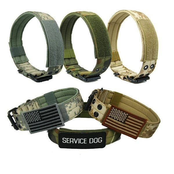 1000D New High Quality Nylon Military Tactical Dog Collar with Metal Buckle Pet Training Belt(6 Colors&4 Sizes)