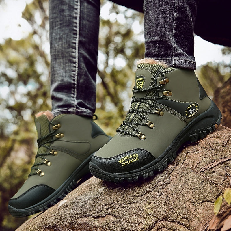 Men's Winter Warm Boots Hiking Boots Waterproof Boots Outdoor Sports Shoes Snow Boots for Men