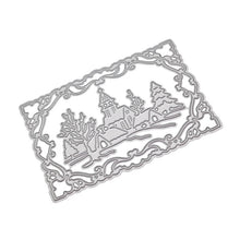 Load image into Gallery viewer, Snowy Day Pattern DIY Etched Carbon Steel Cutting Dies for Scrapbooking Tool