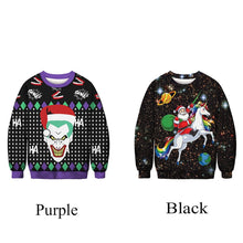 Load image into Gallery viewer, Christmas Ugly Sweater Digital Printing Sports Round Neck Pullover