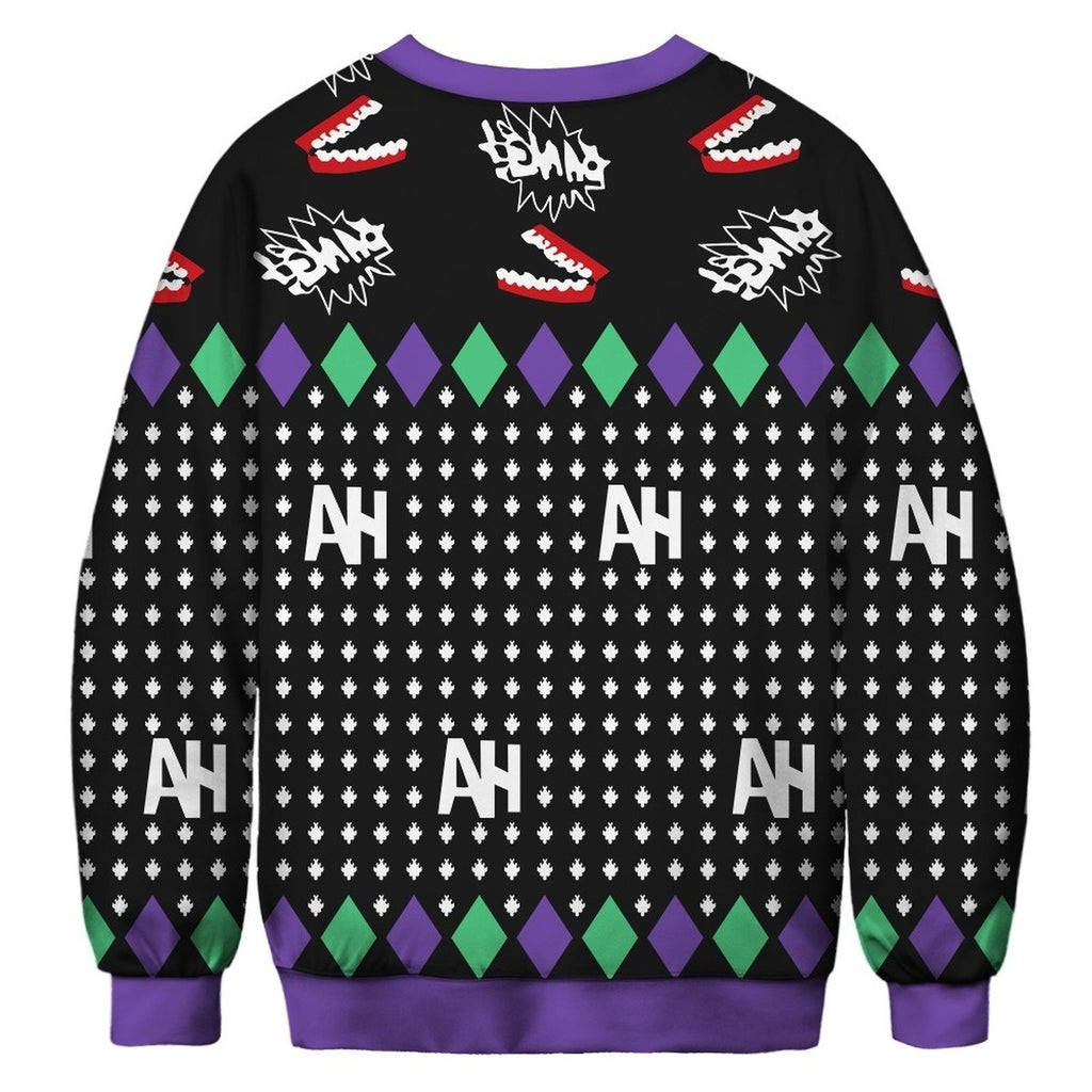 Christmas Ugly Sweater Digital Printing Sports Round Neck Pullover
