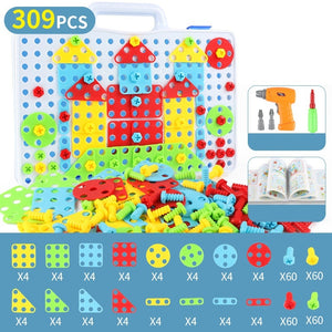 Kids Montessori Game DIY ABS Colorful Assemble Toys149/229/309 Pcs