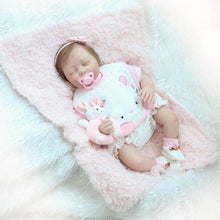 Load image into Gallery viewer, 22 Inch 55cm Sleeping Reborn Baby Doll Soft Silicone Realistic Baby Doll Toddler Doll Toy