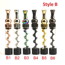 Load image into Gallery viewer, Universal Mouth Mini Twisty Dry Herb Vape Glass Cigarette Lighter Mini Spiral Vape Pipe With Cleasing Set