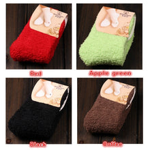 Load image into Gallery viewer, High Quality Soft Warm Floor Socks Candy Color Casual Slipper Socks Fuzzy Hosiery Women Coral Fleece Socks Home Feet Wear