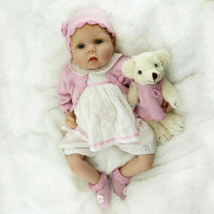Reborn Baby Dolls 22' Cute Realistic Soft Silicone Vinyl Dolls Newborn Baby Dolls With Clothes
