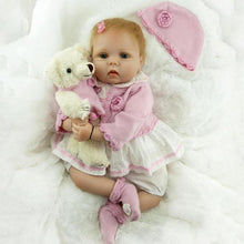 Load image into Gallery viewer, Reborn Baby Dolls 22' Cute Realistic Soft Silicone Vinyl Dolls Newborn Baby Dolls With Clothes