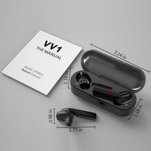 Load image into Gallery viewer, [Bluetooth5.0, 8D Surround]TWS Bluetooth Earbuds Waterproof Wireless Sport Headset Stereo Noise Cancelling Headphone Touch Control Bluetooth Earphones with Charging Case for Iphone Huawei Android Smartphone