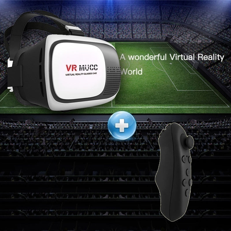 New VR MUCC Version VR Headset Virtual Reality 3D Glasses 3.5 - 6.0 Inch Smartphone Bluetooth Controller