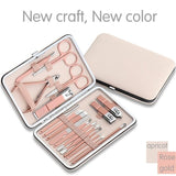 Rose Gold Nail Scissors Set Nail Clippers Pedicure Beauty Nail Tools