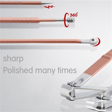 Load image into Gallery viewer, Rose Gold Nail Scissors Set Nail Clippers Pedicure Beauty Nail Tools