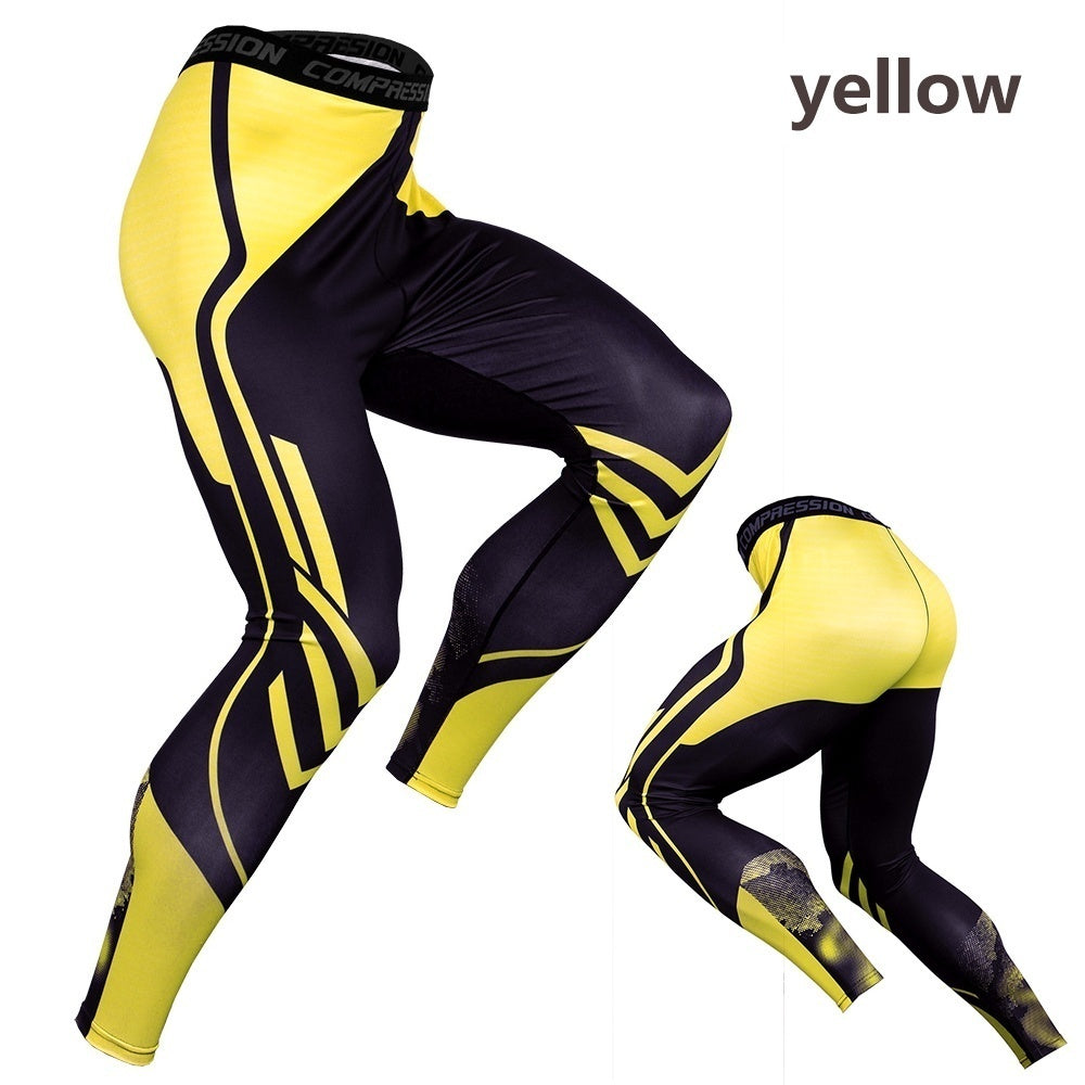 New Men's Sport Running Pants Tights Compression Pants Fitness Leggings Tights Workout Quick Dry Breathable Long Pants ( 7 Colors)