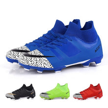 Load image into Gallery viewer, Outdoor Football Shoes for Men Youth Comfortable Waterproof Soccer Shoes for Kids Grass Globe Shoes Sneakers Sports Shoes