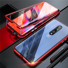 Load image into Gallery viewer, OnePlus 7 Pro 6 6T 360 Magnetic Adsorption Metal Double-sided Tempered Glass Case For Xiaomi Redmi Note 7 Pro K20 Pro 7A Mi A3 CC9E CC9 9T 9 SE 9 Explorer 6X A2 8 Pocophone F1