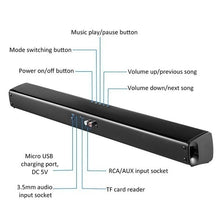 Load image into Gallery viewer, Luxury Upgrade Wireless Bluetooth Soundbar Stereo Speaker TV Home Theater Sound Bar for 3.5mm Output TV