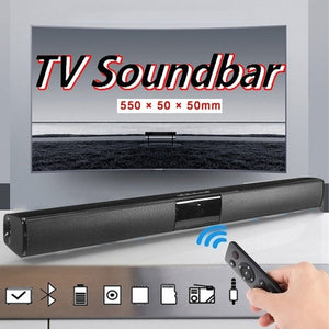 Luxury Upgrade Wireless Bluetooth Soundbar Stereo Speaker TV Home Theater Sound Bar for 3.5mm Output TV