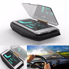 Load image into Gallery viewer, Universal Mobile GPS Navigation Bracket HUD Head Up Display for Smart Phone Car Mount Wireless Fast Charger Stand Phone Holder