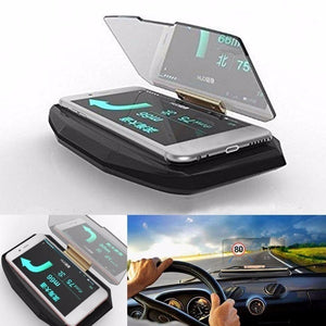 Universal Mobile GPS Navigation Bracket HUD Head Up Display for Smart Phone Car Mount Wireless Fast Charger Stand Phone Holder